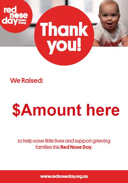 We raised... thank you poster (Editable)