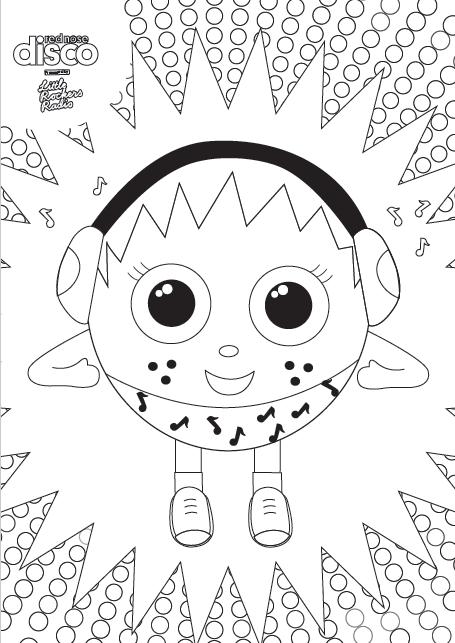 Colouring Sheet - DJ Daisy