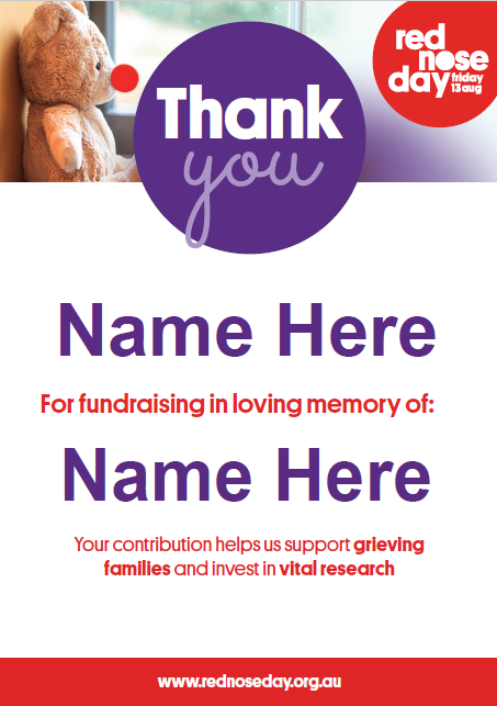 In-honour thank you poster (Editable)